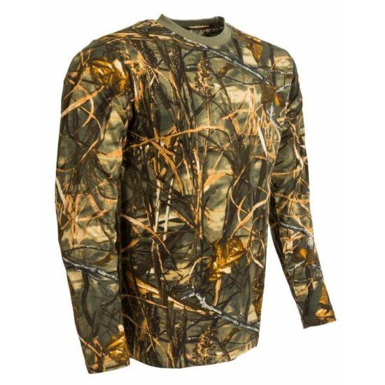 Tricou camuflaj hardwood galben