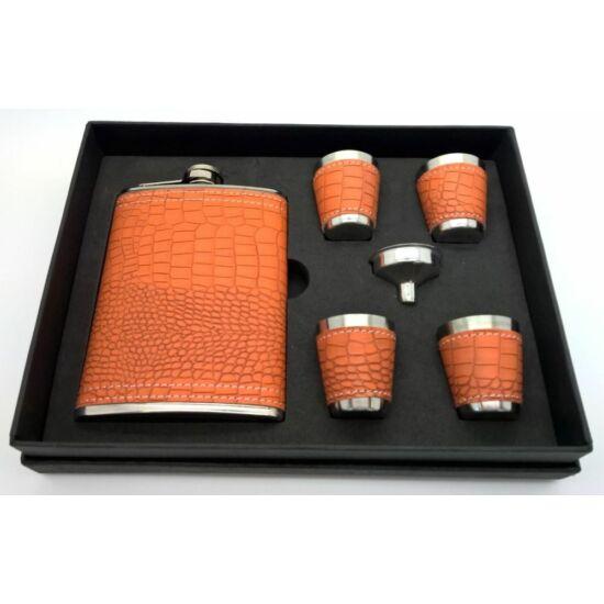 Set cadou sticlă cu 4 pahare și pâlnie
