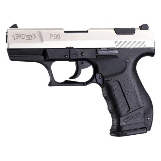 Pistol cu gaz 9mm PAK Walther P99 nikkel