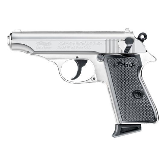 Pistol cu gaz Walther PP 9mm PAK Polished chrome 9mm PAK