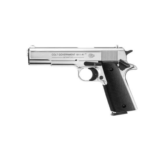 Pistol cu gaz Colt Government 1911A1 Polir crom 9mm PAK