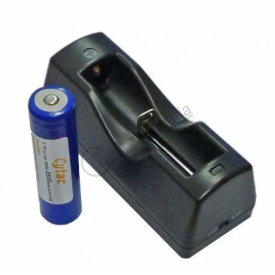 Încărcător de baterii Cytac + o baterie 18650