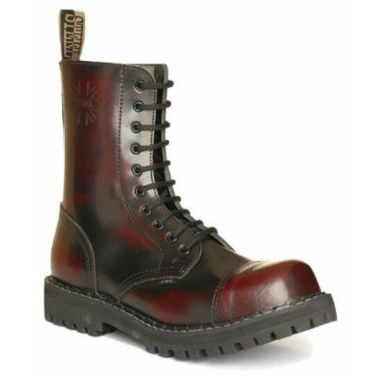 Bocanci Steel Boots, 10 găuri, bordo