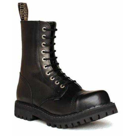 Bocanci Steel Boots, 10 găuri, negru