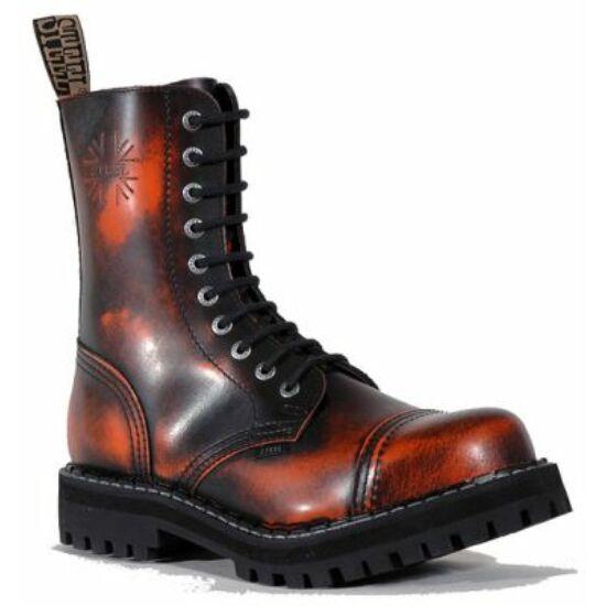 Bocanci Steel Boots cu 10 găuri,  portocaliu murdar