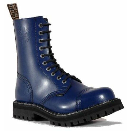 Bocanci Steel Boots cu 10 găuri, albastru uni