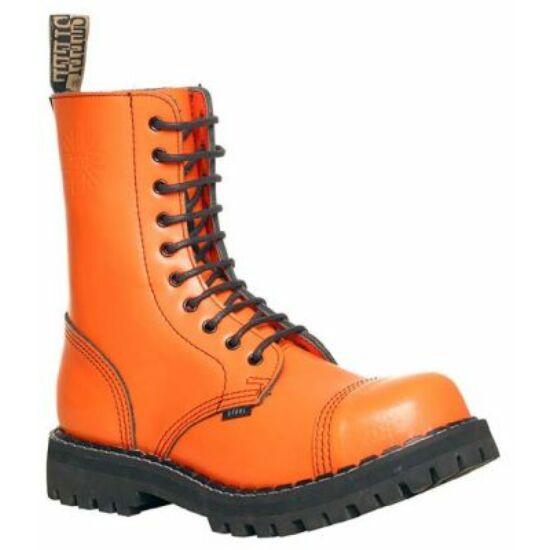 Bocanci Steel Boots cu 10 găuri, portocaliu uni