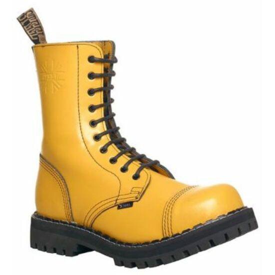 Bocanci Steel Boots cu 10 găuri, galben uni