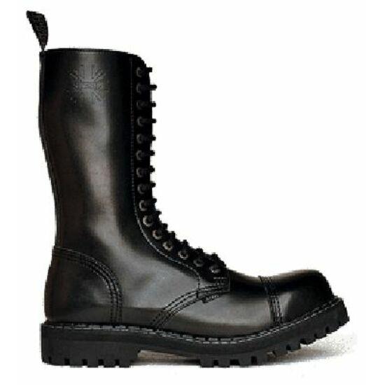 Bocanci Steel Boots cu 15 găuri, negri