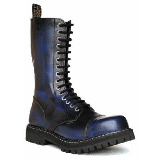 Bocanci Steel Boots cu 15 găuri, albastru