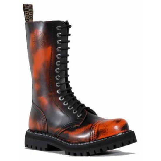 Bocanci Steel Boots cu 15 găuri, portocaliu cu negru