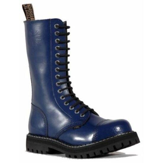 Bocanci Steel Boots cu 15 găuri, albastru uni