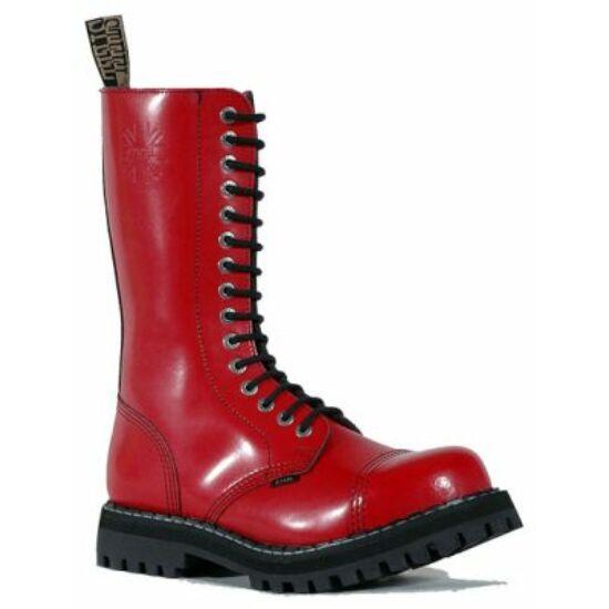 Bocanci Steel Boots cu 15 găuri, roșu uni
