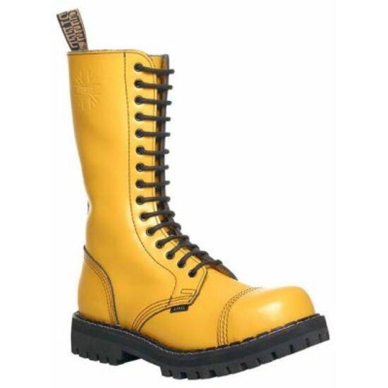 Bocanci Steel Boots cu 15 găuri, galben uni