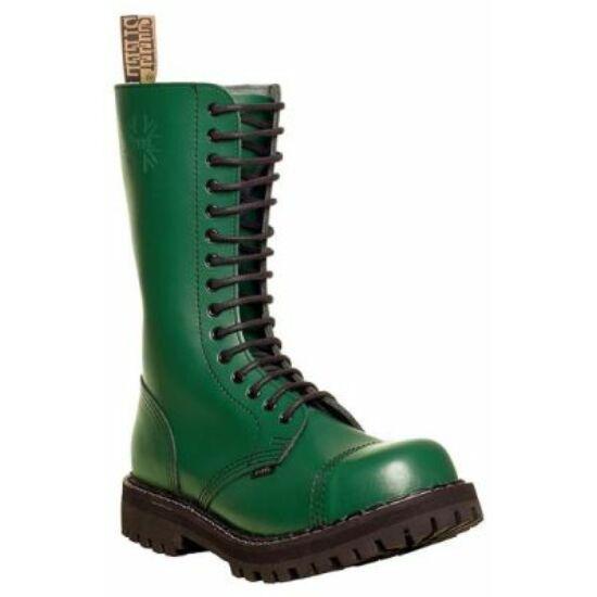 Bocanci Steel Boots cu 15 găuri, verde uni