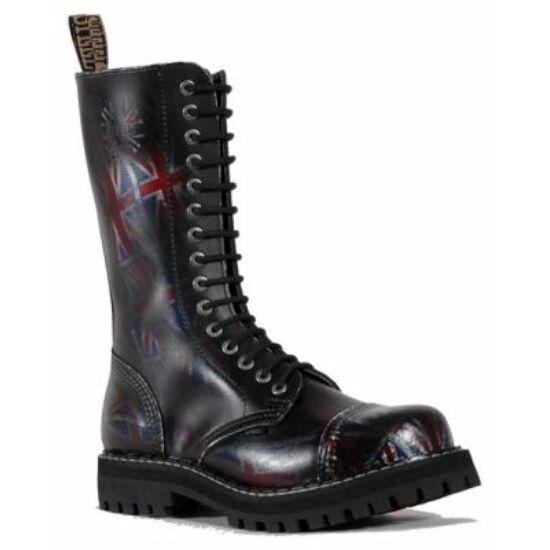 Bocanci Steel Boots cu 15 găuri, negri UK