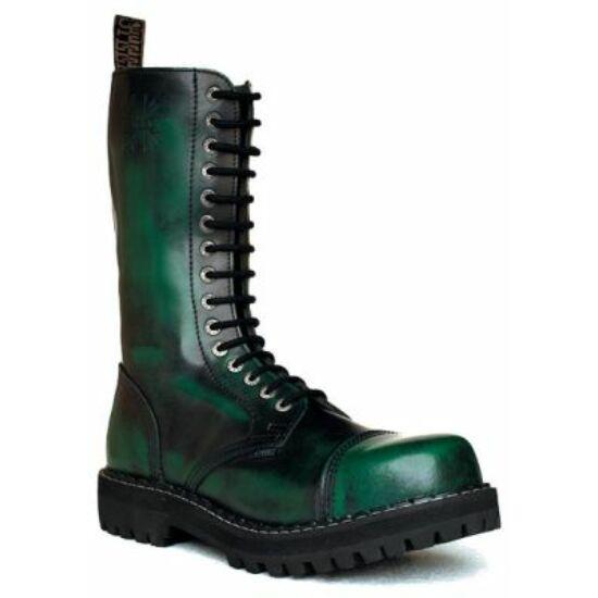 Bocanci Steel Boots cu 15 găuri, verde închis