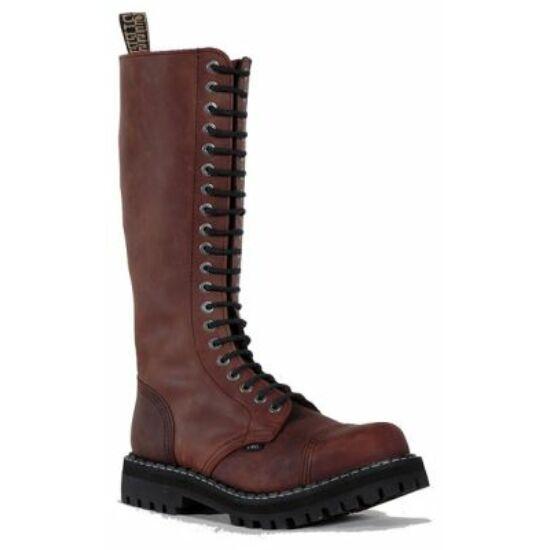 Bocanci Steel Boots cu 20 găuri, maro