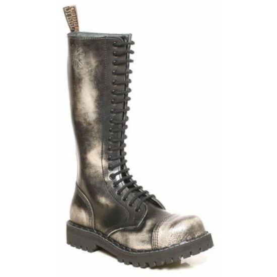 Bocanci Steel Boots cu 20 găuri, alb murdar