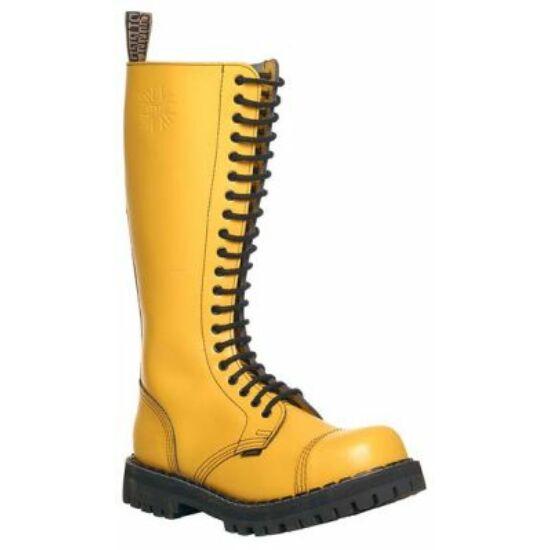 Bocanci Steel Boots cu 20 găuri, galben uni