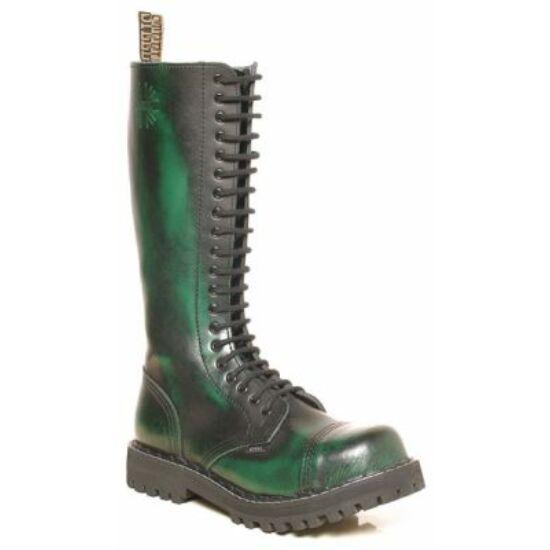 Bocanci Steel Boots cu 20 găuri, Verde cu negru