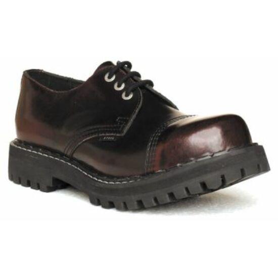 Bocanci Steel Boots cu 3 găuri, bordo