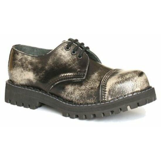 Bocanci Steel Boots cu 3 găuri, alb gri