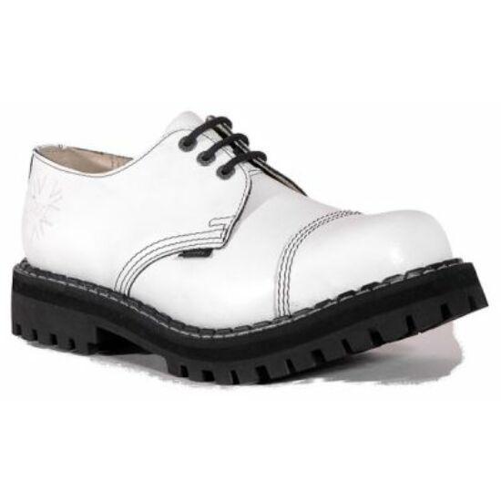Bocanci Steel Boots cu 3 găuri, alb curat