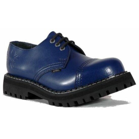 Bocanci Steel Boots cu 3 găuri, albastru curat