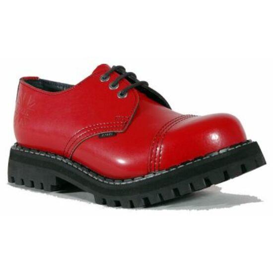 Bocanci Steel Boots cu 3 găuri, roșu