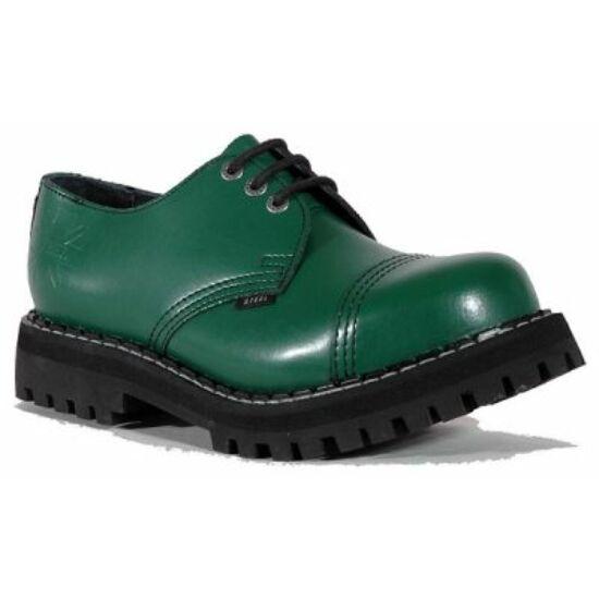 Bocanci Steel Boots cu 3 găuri, verde