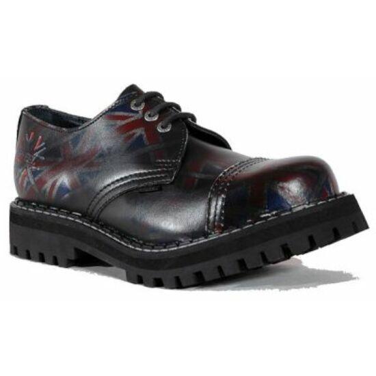 Bocanci Steel Boots cu 3 găuri, maro închis
