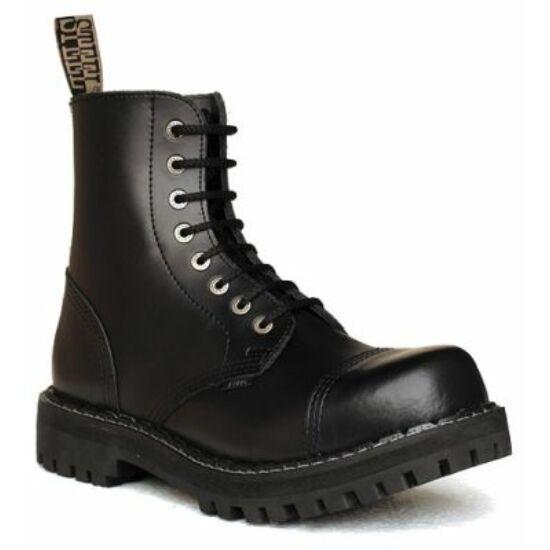 Bocanci Steel Boots cu 8 găuri, negri