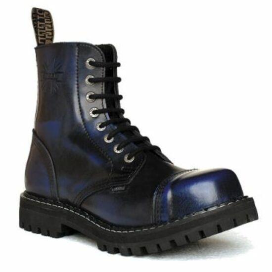 Bocanci Steel Boots cu 8 găuri, albastru