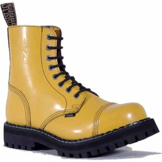 Bocanci Steel Boots cu 8 găuri, galben uni
