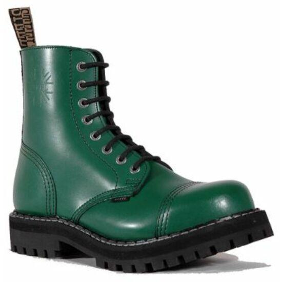 Bocanci Steel Boots cu 8 găuri, verde uni