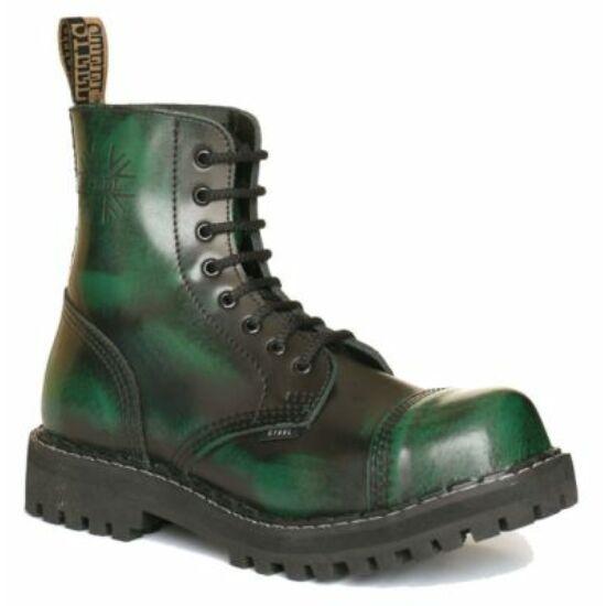 Bocanci Steel Boots cu 8 găuri, verde murdar